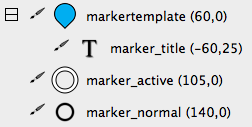 The markertemplate in the Skin Editor tree.