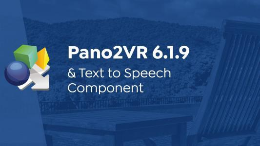 Pano2VR 6.1.9 and Text to Speech
