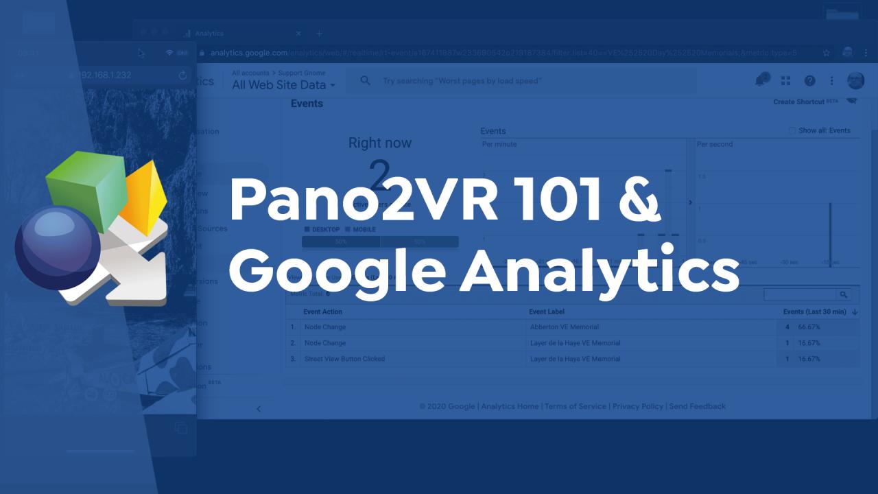 Pano2VR 101 and Google Analytics